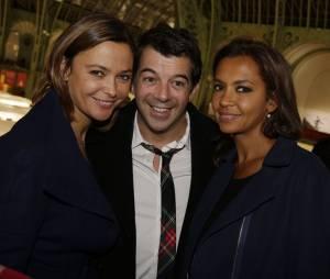 Stéphane Plaza aux côtés de Sandrine Quétier et de Karine Le Marchand au lancement de la FIAC 2014, le 22 octobre au Grand Palais