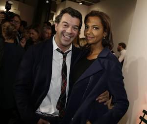 Stéphane Plaza et Karine Le Marchand au lancement de la FIAC 2014, le 22 octobre au Grand Palais