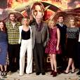 Hunger Games 3 : Julianne Moore, Liam Hemsworth, Jennifer Lawrence, Donald Sutherland, Elizabeth Banks, Sam Claflin, Natalie Dormer et Stanley Tucci lors d'un photocall à Londres   (9 novembre 2014)
