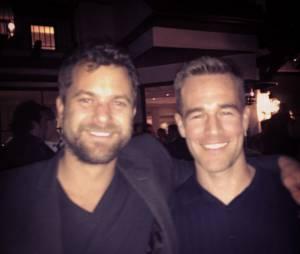 Joshua Jackson et  James Van Der Beek se retrouvent en soirée