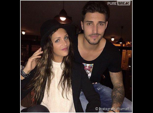 Julia (Friends Trip) et Romain (Les Marseillais) prennent la pose, le 18 novembre 2014 sur Instagram