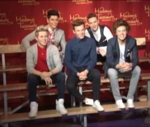 One Direction : leurs statues de cire inaugurées au musée Madame Tussauds d'Hollywood, le 24 novembre 2014 (vidéo ABACA)