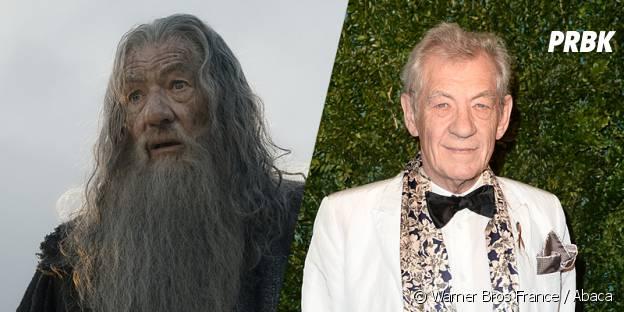 Ian McKellen avant et après sa transformation pour Le Hobbit