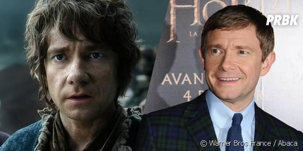 Martin Freeman avant et après sa transformation pour Le Hobbit