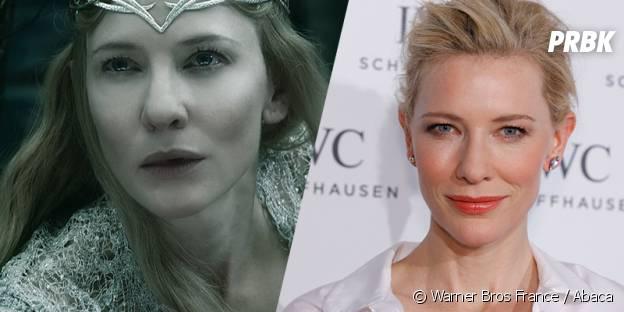 Cate Blanchett avant et après sa transformation pour Le Hobbit