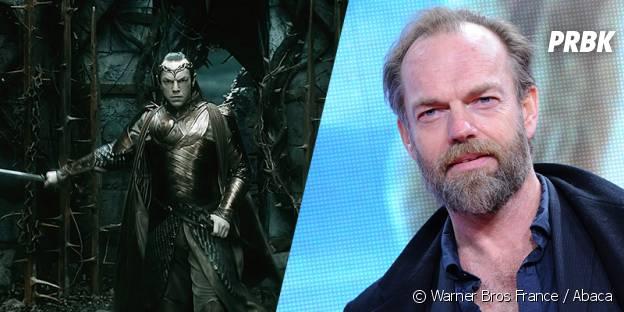 Hugo Weaving avant et après sa transformation pour Le Hobbit