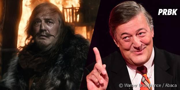 Stephen Fry avant et après sa transformation pour Le Hobbit