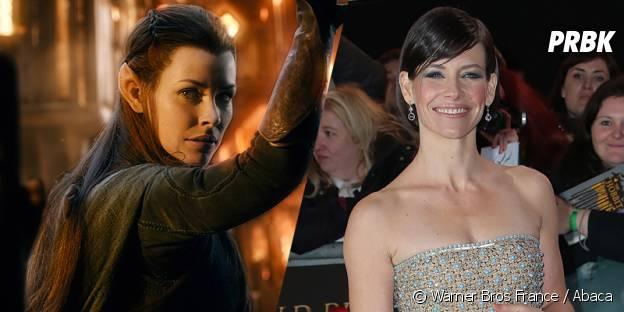 Evangeline Lilly avant et après sa transformation pour Le Hobbit