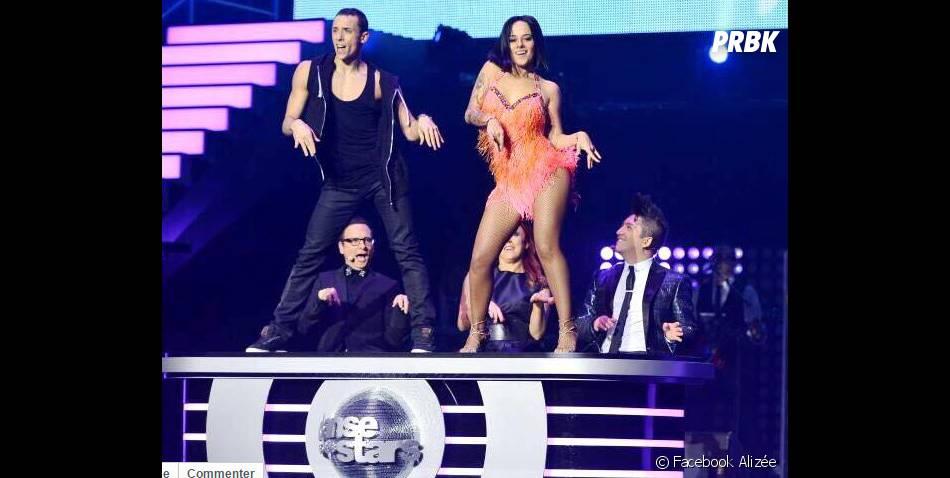 Alizée et Grégoire Lyonnet lors de la tournée Danse avec les stars 5