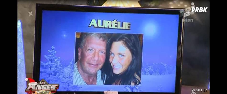 Aurélie Van Daelen : une photo de son papa et elle dévoilée dans Les Anges fêtent Noël, le 23 décembre 2014, sur NRJ 12
