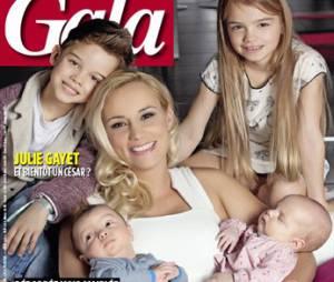 Elodie Gossuin et ses quatre enfants en couverture de Gala