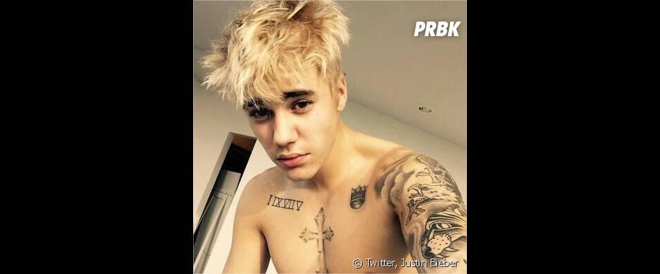 Justin Bieber blond sur une photo