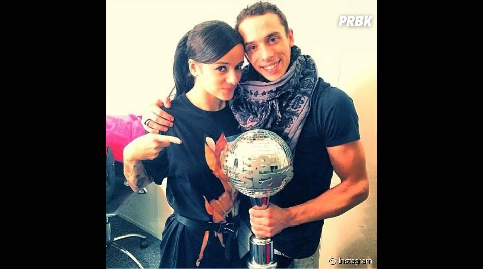 Alizée et Grégoire Lyonnet après leur victoire dans Danse avec les stars 4