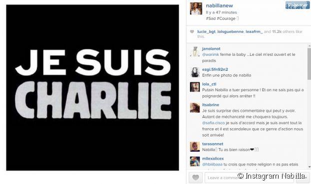 Attentat à Charlie Hebdo : Nabilla se mobilise