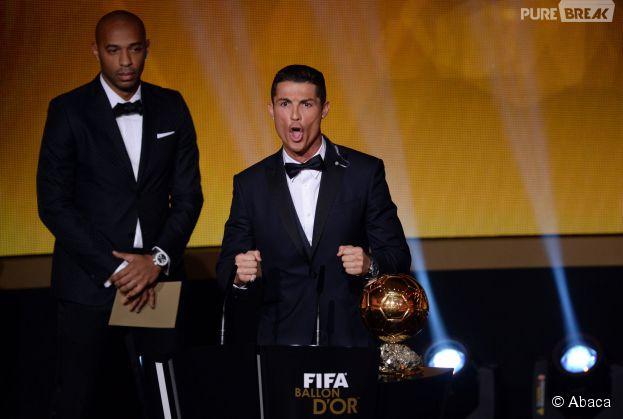 Cristiano Ronaldo lors de la remise du Ballon d'or 2014, le 12 janvier 2015 à Zurich