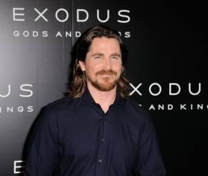 Christian Bale pendant la promo d'Exodus à Paris, le 2 décembre 2014