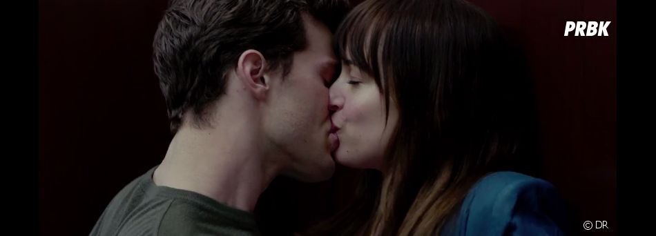 Fifty Shades of Grey : Christian Grey (Jamie Dornan) et Anastasia Steele (Dakota Johnson)