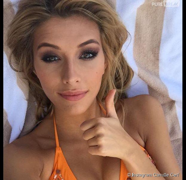 Camille Cerf sexy en bikini pour le concours de Miss Univers 2015