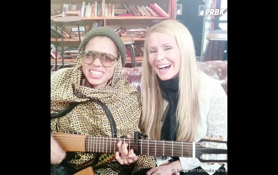 Tatiana Laurens donne de la voix au côté de Nneka Egbuna sur Instagram, le 19 janvier 2015