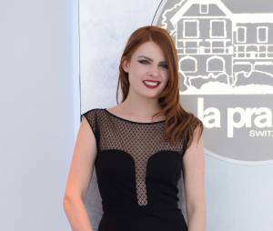 Elodie Frégé à l'ouverture d'un magasin La Prairie à Paris le 20 janvier 2015