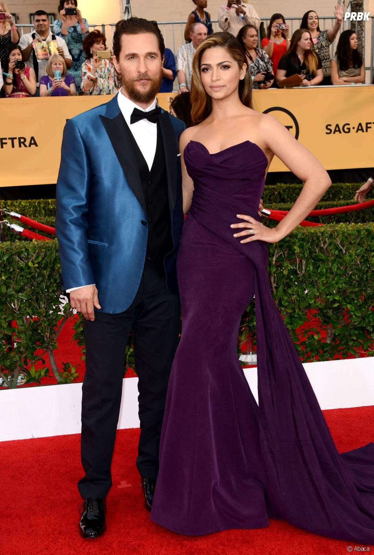 Matthew McConaughey et sa femme aux SAG Awards 2015, le 25 janvier 2015 à Los Angeles
