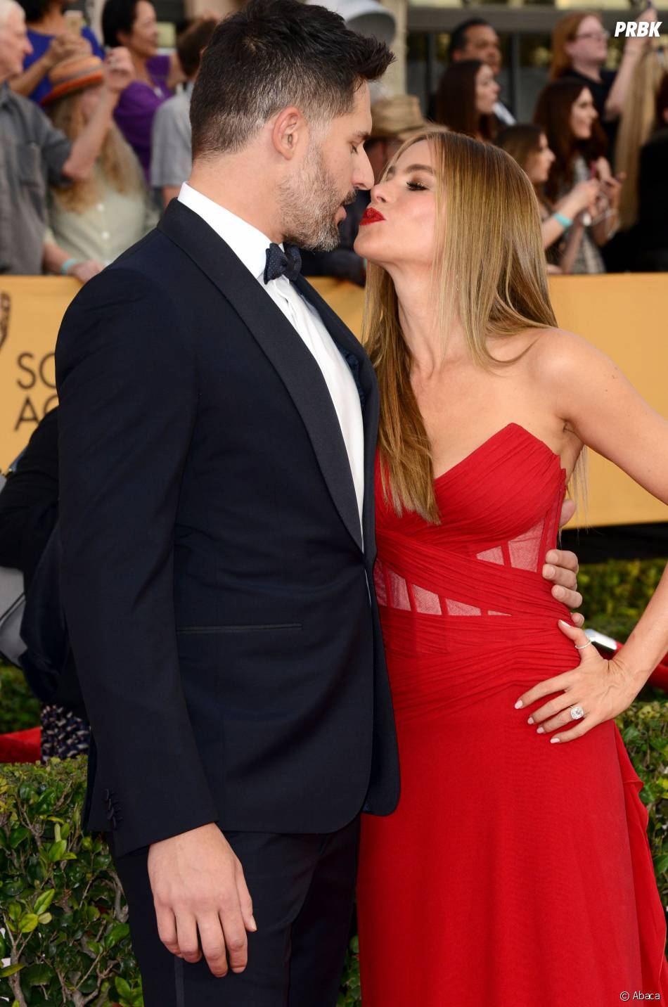Sofia Vergara et son fiancé Joe Manganiello aux SAG Awards 2015, le 25 janvier 2015 à Los Angeles