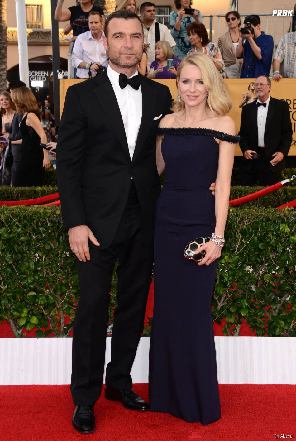 Naomi Watts et Liev Schreiber en couple aux SAG Awards 2015, le 25 janvier 2015 à Los Angeles