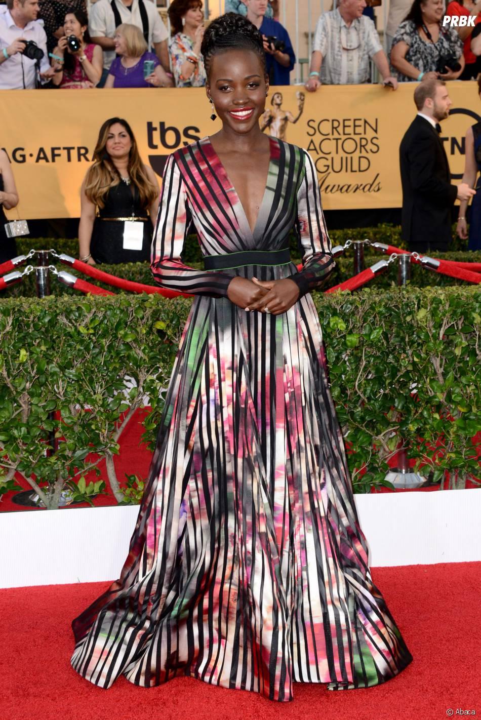Lupita Nyong'o aux SAG Awards 2015, le 25 janvier 2015 à Los Angeles