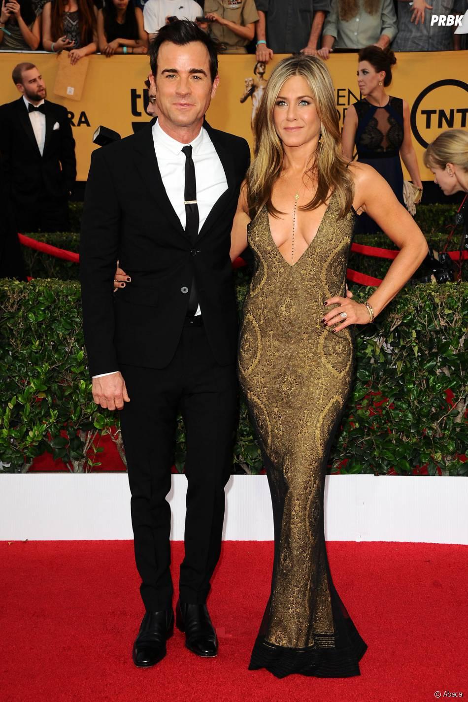 Jennifer Aniston et Justin Theroux en couple aux SAG Awards 2015, le 25 janvier 2015 à Los Angeles