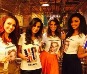 Delphine Wespiser, Malika Ménard, Laury Thilleman et Flora Coquerel réunies pour soutenir Camille Cerf à l'élection de Miss Univers 2015