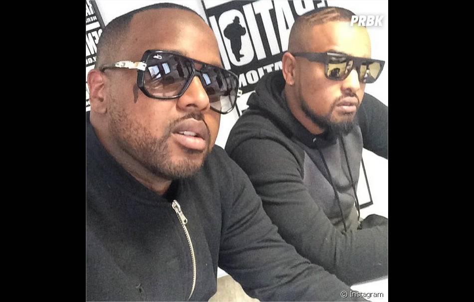 """Alonzo et son réalisateur Spike Miller pour la sortie de l'album """"Règlement de comptes"""""""