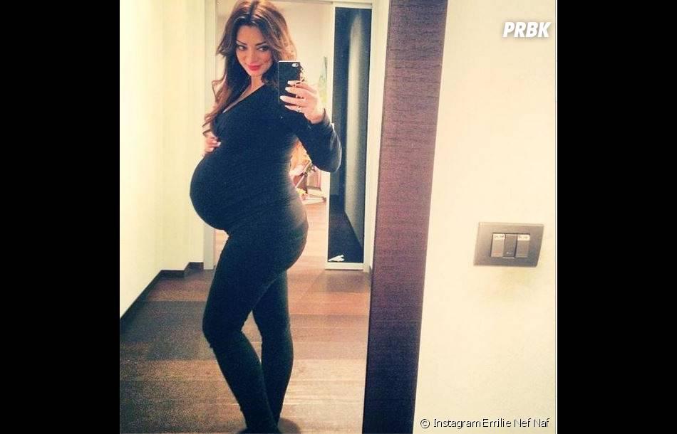 Emilie Nef Naf quelques jours avant son accouchement du petit Menzo, né en novembre 2014