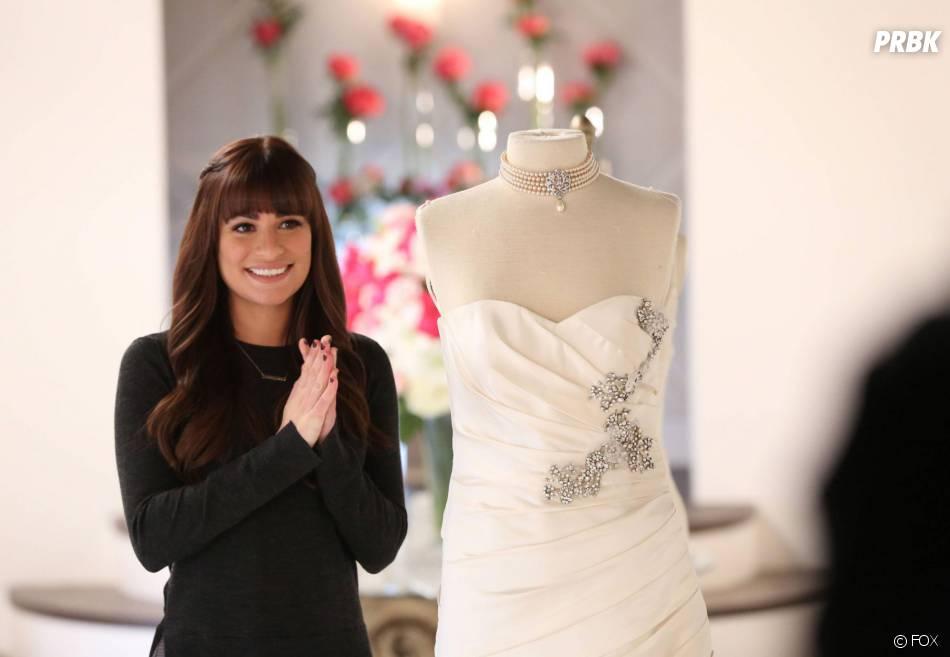 Glee saison 6, épisode 8 : Rachel (Lea Michele) sur une photo