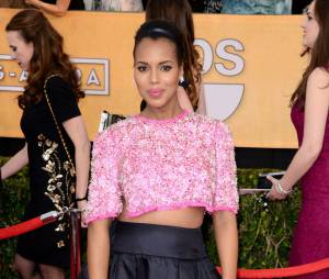 Kerry Washington sur le tapis rouge des SAG Awards à Los Angeles, le samedi 18 janvier 2014