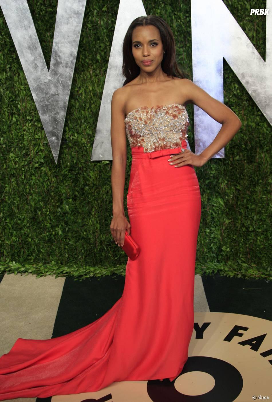 Kerry Washington sublime à la soirée Vanity Fair des Oscars 2013