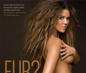 Khloe Kardashian nue pour la PETA dans une campagne sexy