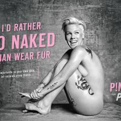 Pink nue et souriante pour la PETA