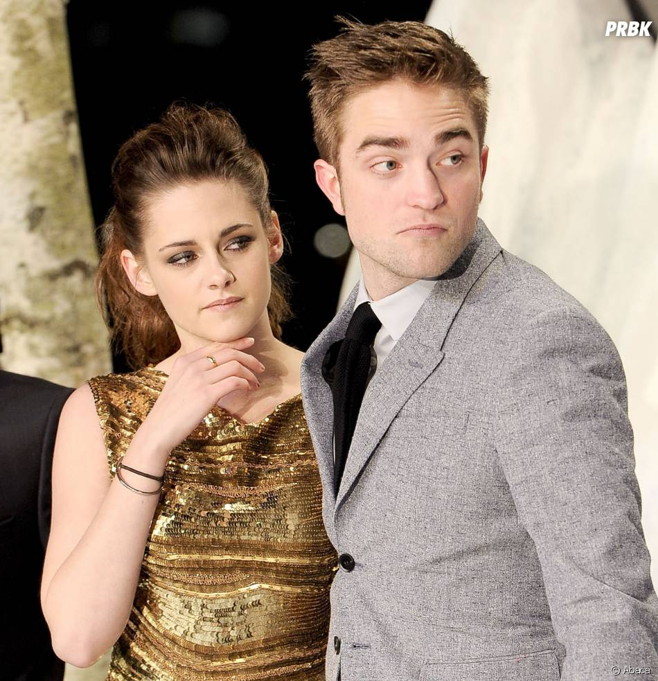 Robert Pattinson et Kristen Stewart lors d'une avant-première de Twilight 5
