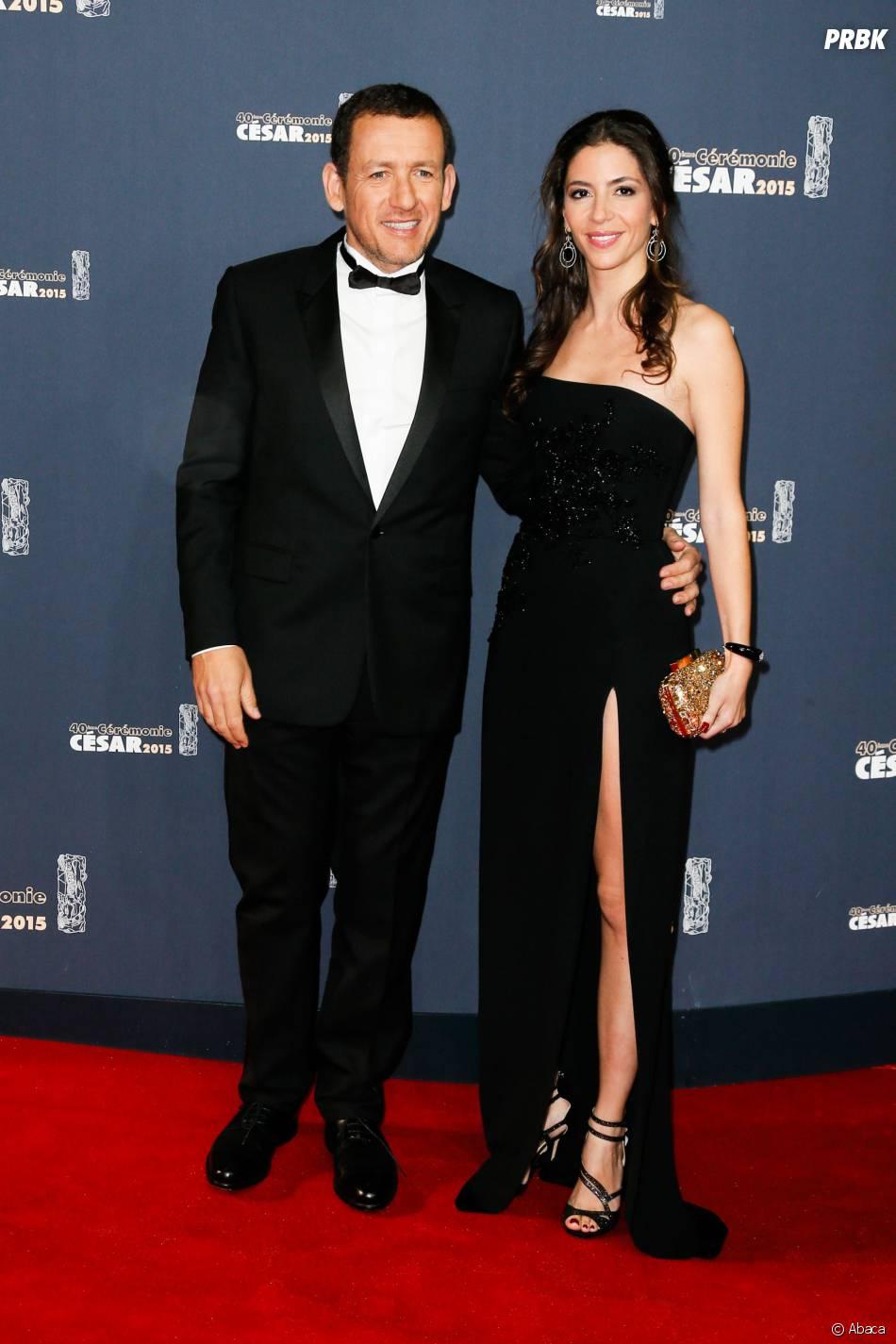 Dany Boon et sa femme Yaël Boon sur le tapis rouge des César 2015 au théâtre du Châtelet à Paris, le 20 février 2015