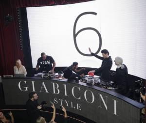 """Baptiste Giabiconi et Karl Lagerfeld pour le lancement du site """"Giabiconi Style"""" samedi 28 février"""