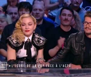 Madonna en larmes et émue dans le Grand Journal