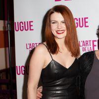 Elodie Frégé : robe en cuir sexy pour l'avant-première du film L'Art de la fugue