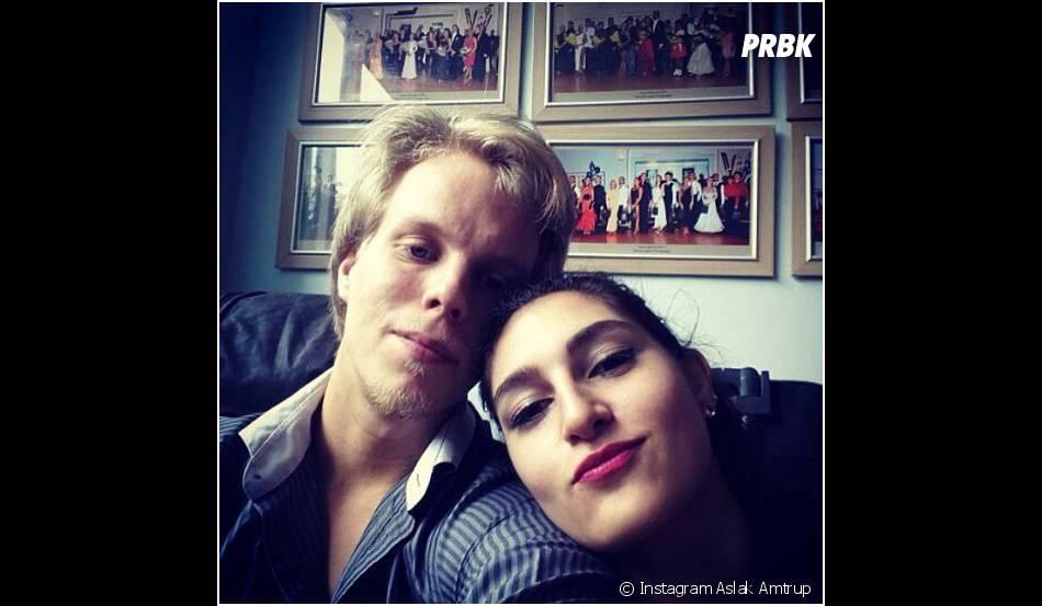 Aslak Amtrup et Chloe Hourani, sa partenaire de danse