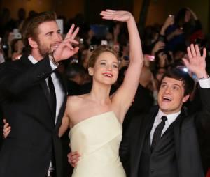 Josh Hutcherson très complice avec Jennifer Lawrence et Liam Hemsworth