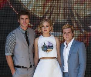 Josh Hutcherson, Liam Hemsworth et Jennifer Lawrence à Cannes