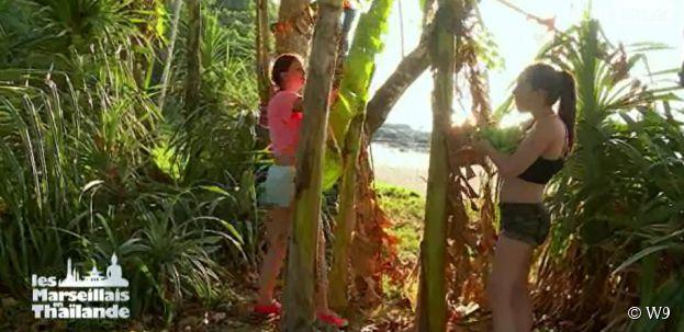 Les Marseillais en Thaïlande : Kim et Norma à la recherche de nourriture lors de l'épisode 16 diffusé le 20 mars 2015, sur W9