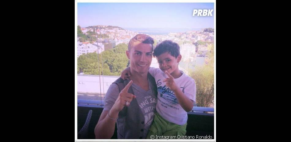 Cristiano Ronaldo et son fils sur Instagram, le 1er juin 2014