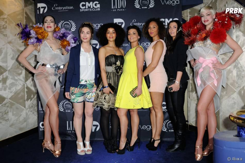 Globes de Cristal : Priscilla et Aurélie Konaté à la 10ème cérémonie le lundi 13 avril 2015 au Lido de Paris