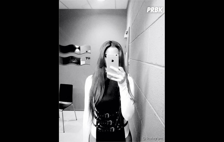 Shy'm en noir et blanc sur Instagram