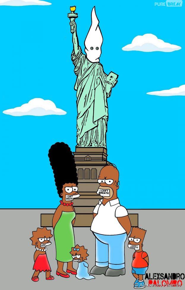 Les Simpson deviennent noirs pour dénoncer le racisme